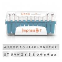 ImpressArt Deco 3mm Alphabet Upper Case Letter Metal Stamping Set