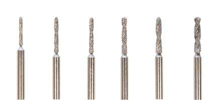 Diamond-Coated Uniform Shank Drills 3/32 6 pc Set