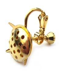 Screw Clip On Earrings Gold x1 pr