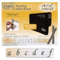 Elegant Alphabet Lower Case Letter 3mm Stamping Set - Metal Complex  (Jumbled up Sizing)