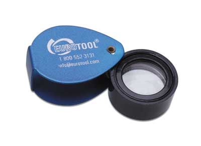Aluminium Jewellers Loupe (10X magnification)