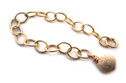 Gold Filled 55mm Extender Chain with 4mm Stardust Bead Charm x1