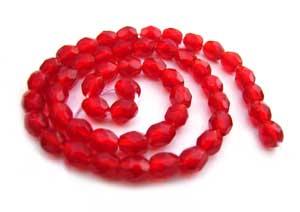 Czech Glass Fire Polished beads - 3mm Siam Ruby x50