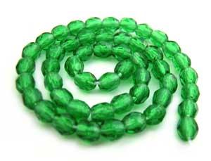 Czech Glass Fire Polished beads - 3mm Green Emerald x50
