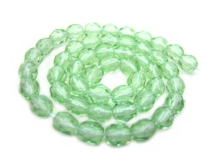 Czech Fire Polished beads 4mm Peridot Light x50