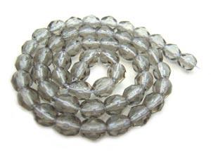 Czech Fire Polished beads 4mm Black Diamond x50