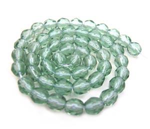 Czech Fire Polished beads 4mm Prairie Green Light x50