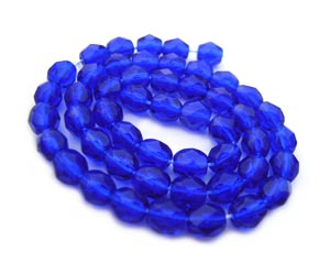 Czech Fire Polished beads 4mm Cobalt x50