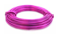 Aluminium Wire 18 gauge (1mm) x39ft (12m) Fuchsia
