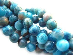 Crazy Lace Agate ~ Dyed 4mm Round Gemstone Beads per quarter strand (25 beads)