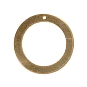 Gold Filled Washer Drop 14.2mm od 6.1mm id 24g Stamping Blank x1