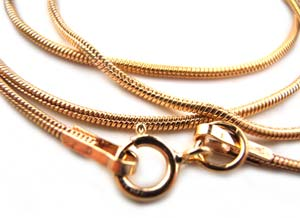 14kt Gold Filled 1.2mm Snake Chain Necklace 18in - 45cm