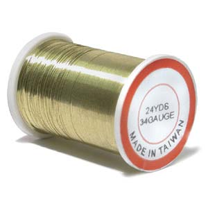 Economy Craft Wire ~ 34ga (0.16mm) Gold