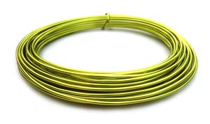 Aluminium Wire 12 gauge x39ft / 12m - Apple Green
