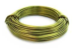 Aluminium Wire 18 gauge x39ft / 12m - Apple Green
