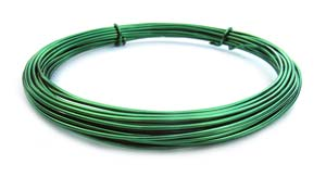 Aluminium Wire 12 gauge x39ft / 12m - Kelly Green