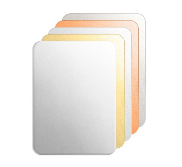 Copper Metal Stamping Blank Rounded Rectangle (2x1 3/8) **mm 20ga x1