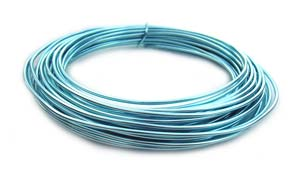 Aluminium Wire 12 gauge (2mm) x39ft (12m) Ice Blue