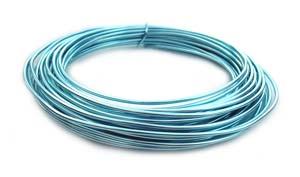 Aluminium Wire 12 gauge (2mm) x39ft (12m) Ice Blue