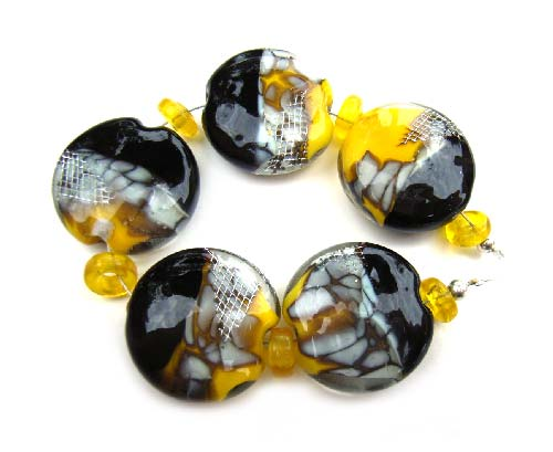 Sunshine Lane Set - Ian Williams Artisan Glass Lampwork Beads