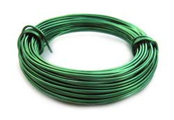 Aluminium Wire 18 gauge (1mm) x39ft (12m)  Kelly Green