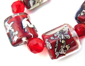 SOLD - Artisan Glass Lampwork Beads ~ Scarlett Obsession