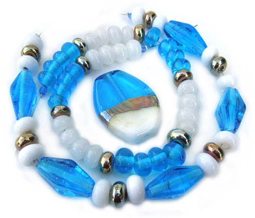 Cool Breeze 63 -  Ian Williams Artisan Glass Lampwork Beads