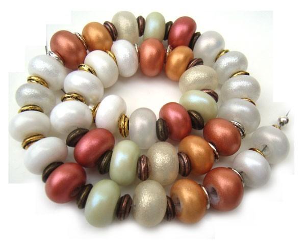 Sunset Shimmer -  Ian Williams Artisan Glass Lampwork Beads