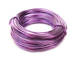 Aluminium Wire 18 gauge (1mm) x39ft (12m) Lavender