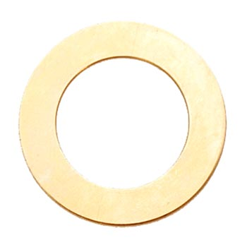 "Brass Washer 1 1/4"" 31.7mm od 18.9mm id 24g Stamping Blank x1"