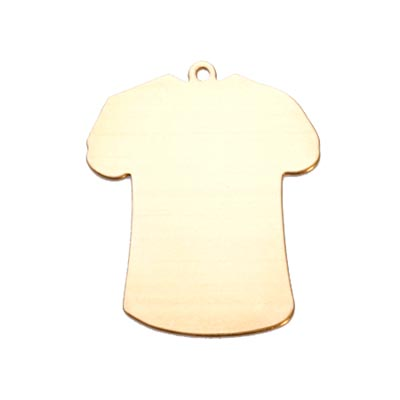 Brass T-Shirt 24g Stamping Blank 32.6x27.1mm
