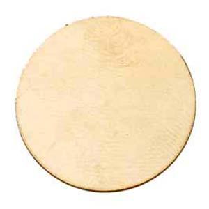 Brass Circle, 50.8mm (2 inch) 24ga Metal Stamping Blank x1