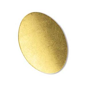 Brass Oval 24g Stamping Blank 25x18mm