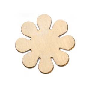 Brass 8 Petal Flower 24g Stamping Blank 24mm