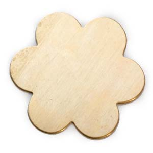 Brass 6 Petal Flower 24g Stamping Blank 33.5mm