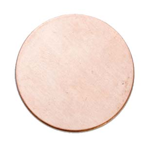 Copper Circle, 25mm (1 inch) 24ga Metal Stamping Blank x1 (clearance)