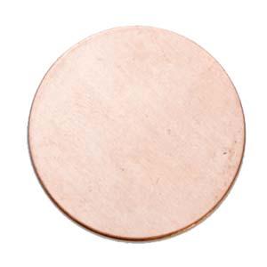 Copper Circle, 44.5mm (1 3/4 inch) 24ga Metal Stamping Blank x1