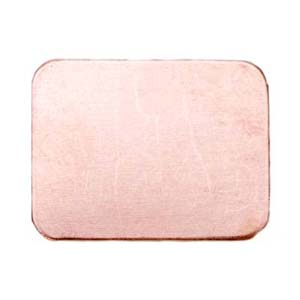 """Copper Rectangle 3/4x1"""" 19.5x25mm 24g Stamping Blank x1"""