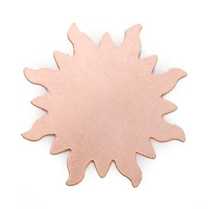 Copper Metal Stamping Blank Sunburst 24g Stamping Blank 32.7mm