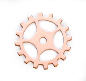"Copper Gear Cog with Spokes 24g 3/4"" 19mm"