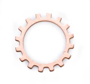 "Copper Open Gear Cog 24g 3/4"" 19mm"