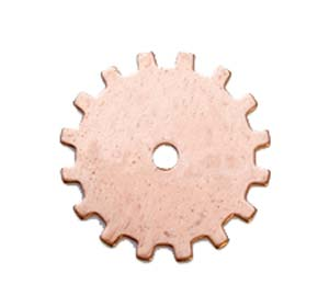 "Copper Solid Gear 24g Stamping Blank 3/4"" 19mm"