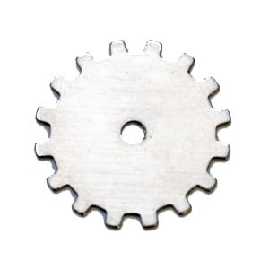 "Nickel Silver Solid Gear 24g Stamping Blank 3/4"" 19mm"