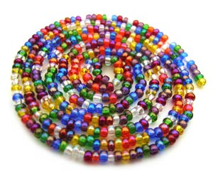 Czech Seed Beads 11/0 Rainbow AB mini hank