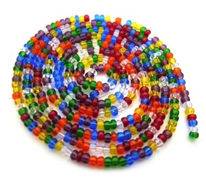 Czech Seed Beads 11/0 Rainbow mini hank
