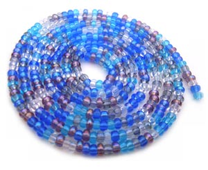 Czech Seed Beads 11/0 Caribbean Blue mini hank