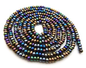 Czech Seed Beads 11/0 Heavy Metal mini hank