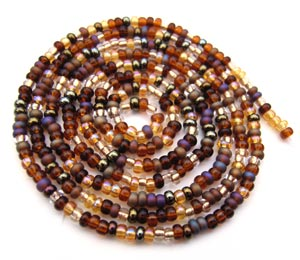Czech Seed Beads 11/0 Wheatberry mini hank
