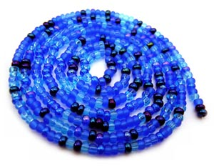 Czech Seed Beads 11/0 Blue Tones mini hank