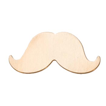 Brass Large Moustache Mustache 56x25mm 24g Stamping Blank